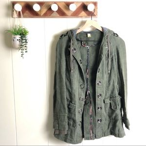 FREE PEOPLE l Army Green Utility Jacket